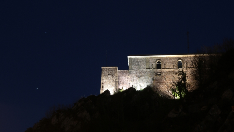 Fort du Roule by night