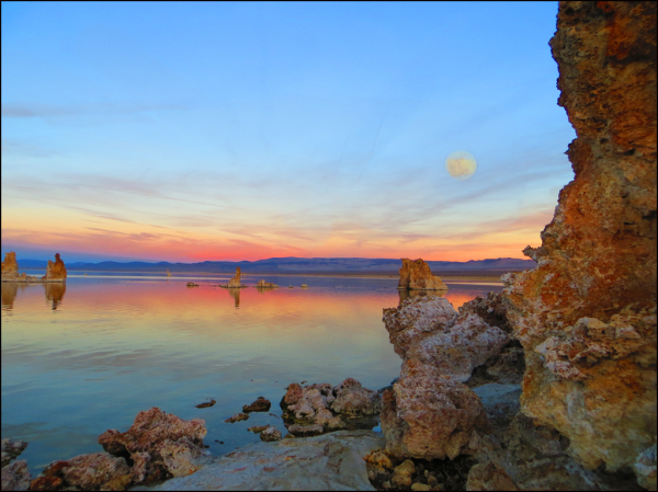 Moonrise Sunset at Mono Lake