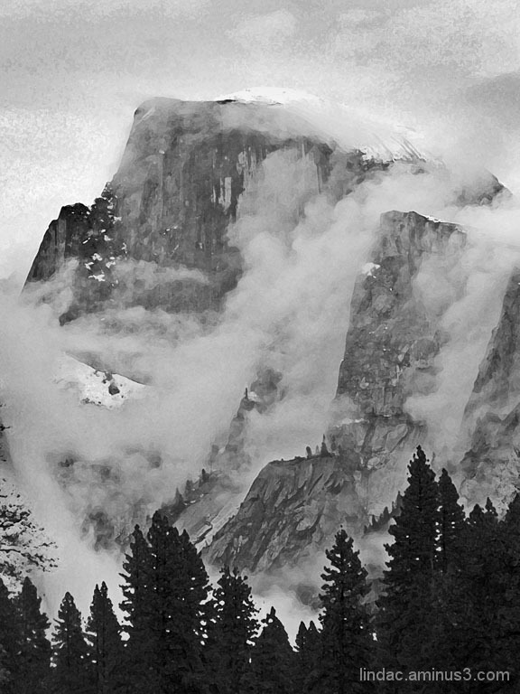 Clouds and Half Dome, Yosemite National Park