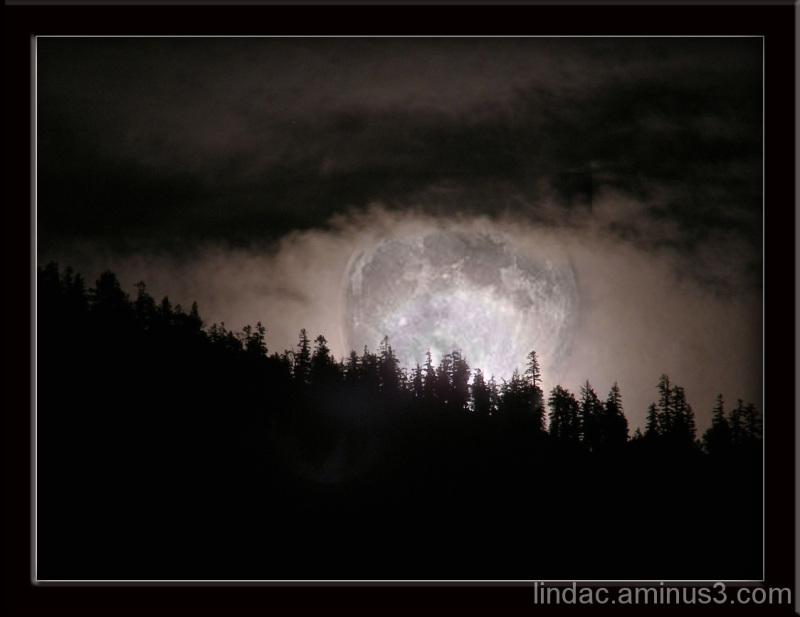Harvest Moon over Tahoe.