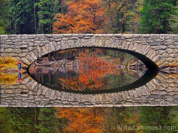 Reflections of Stoneman Bridge, Yosemite