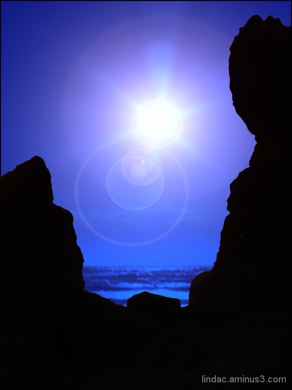 Blue Moon & Sun Flares