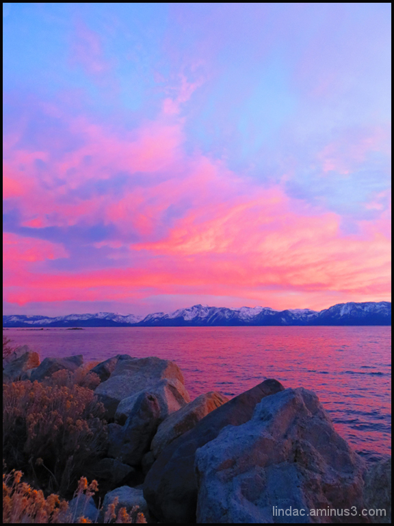 Sunset Over Tahoe Lake