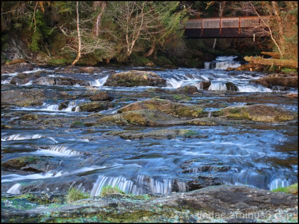 Alaska , Sunset River Flow