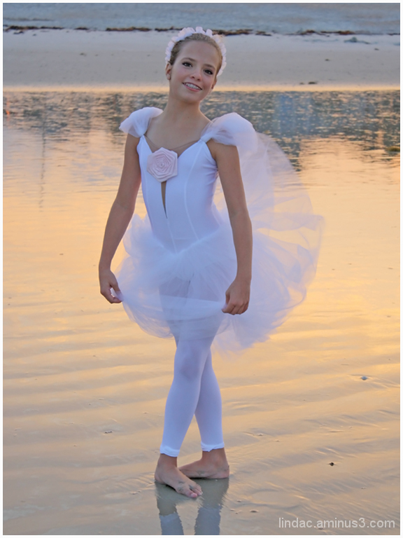 Ballerina on the Beach