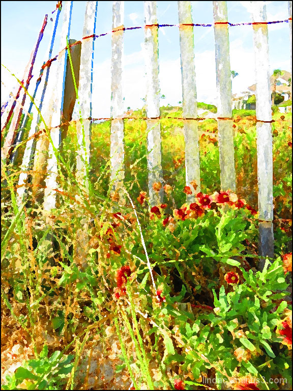 A Painting of a Fence