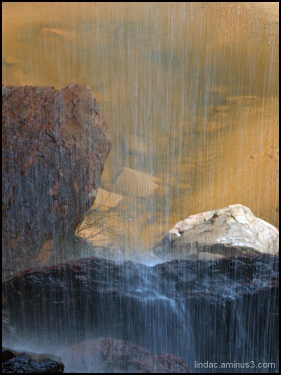Behind Weeping Rock Waterfall, Zion