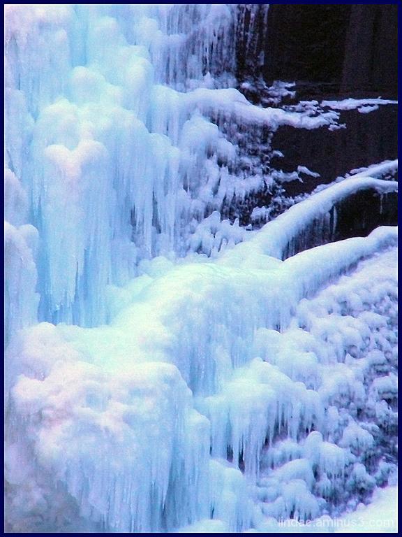 Frozen Bridalvail Falls, Yosemite