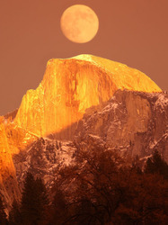 Moon Over Half Dome, Yosemite
