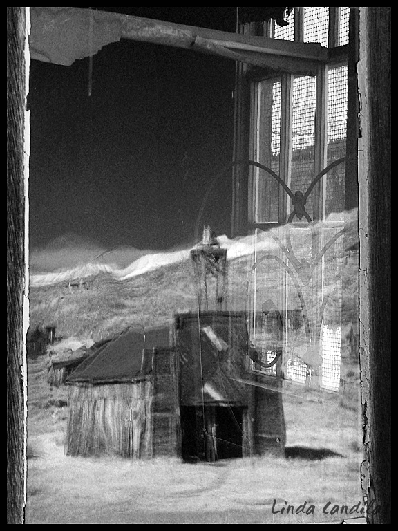 Reflection of Bodie Fire Station