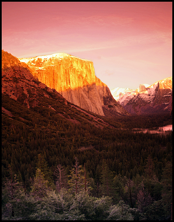 Tunnel View Red Sunset