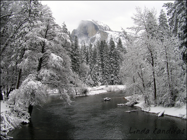 Half Dome from Sentinel Bridge
