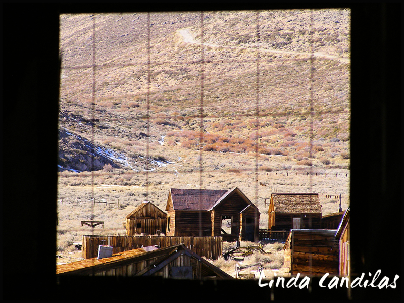 Bodie View Through Window