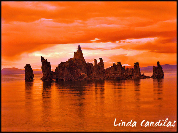 Red Sunset, South Tufa's
