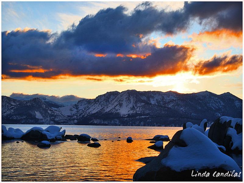 So. Lake Tahoe, Sunset