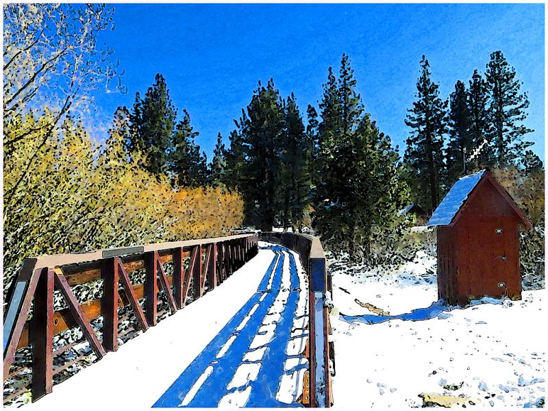 Snow Bridge, South Lake Tahoe, Early Spring