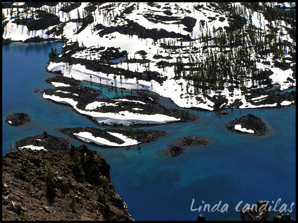 Looking Down Into Crater Lake