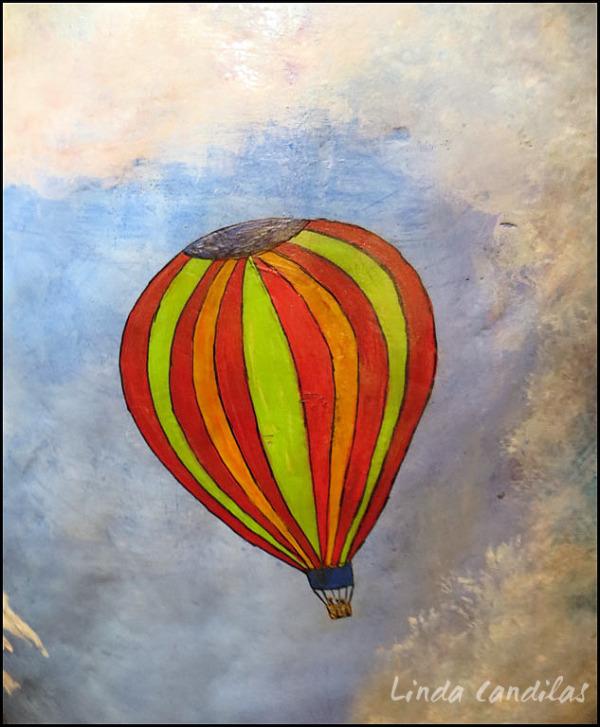 Tahoe Bear, Ballooning Over Tahoe Lake