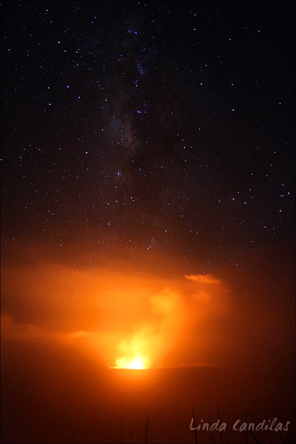 Kilauea Caldera & Milky Way, Big Island of Hawaii