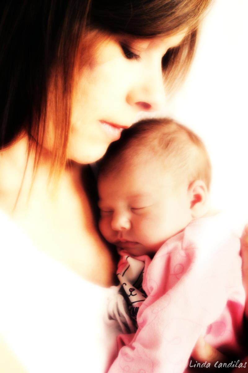 Ashlyn at two weeks old