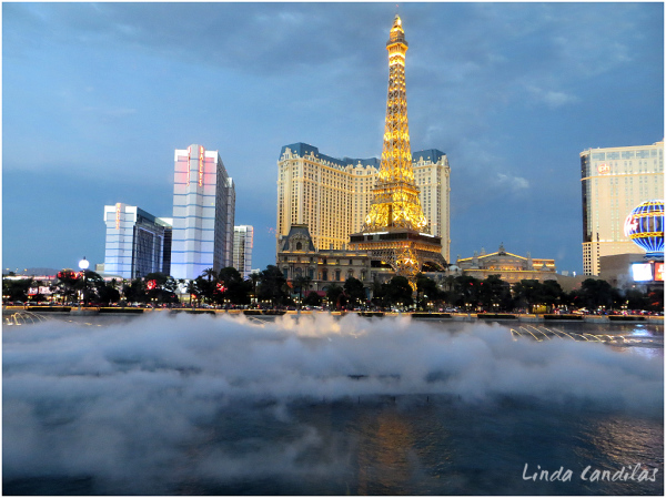 View for the Bellagio of Eiffel Tower
