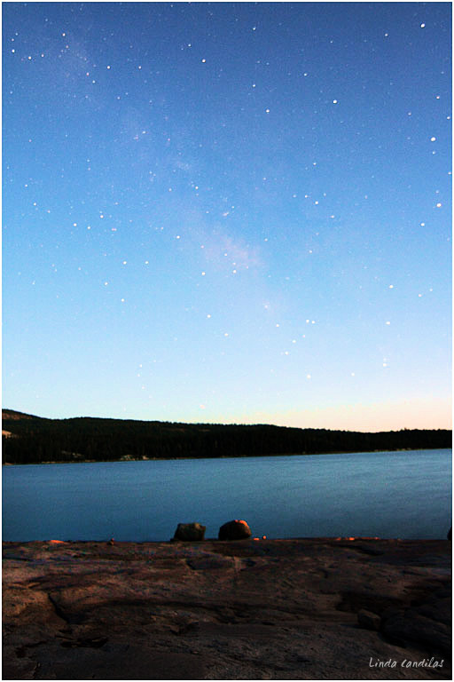 Loon Lake Milky Way Before Dark