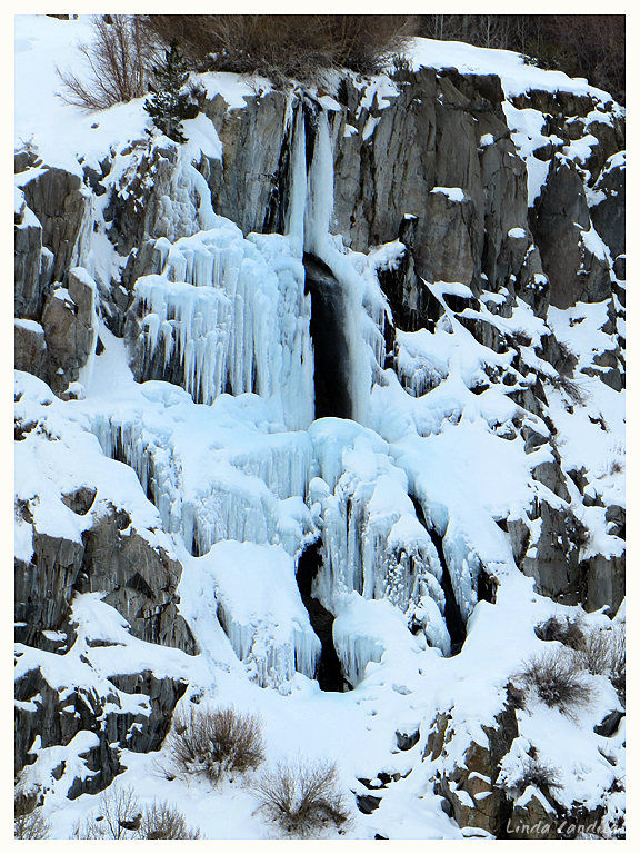 Frozen Waterfall Bishop Creek
