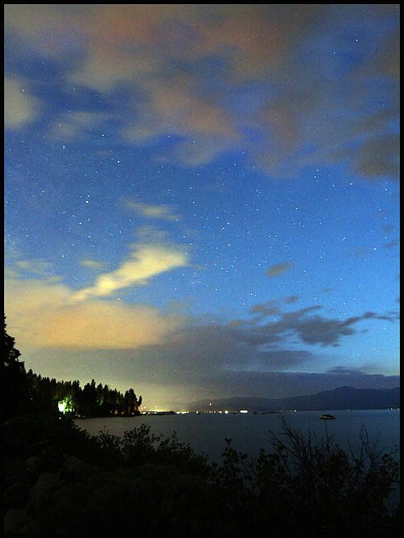 Stars at Cove Rock Tunnel, So. Lake Tahoe