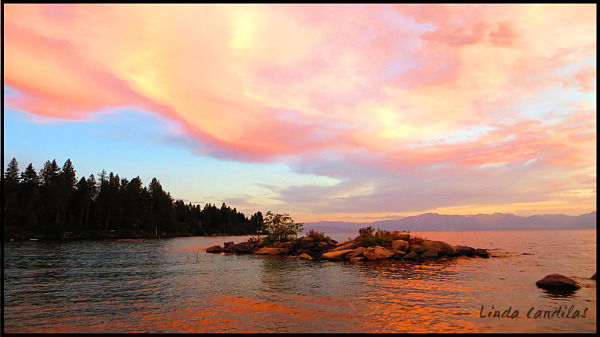 Magical Sunset, Cave Rock Tunnel, So. Lake Tahoe