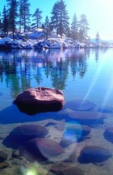 Sand Harbor Sun Reflections
