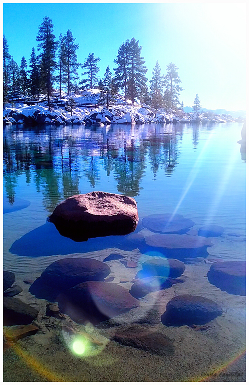 Sand Harbor Sun Reflections