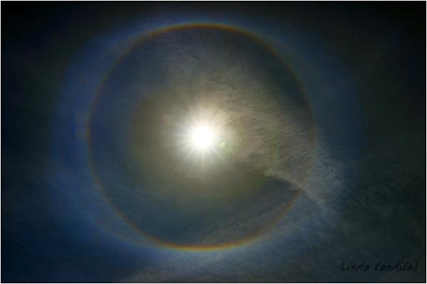 Sun Dog over Cameron Park