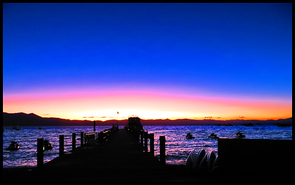Sunset at Zephyr Cove, Tahoe