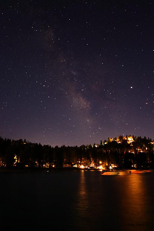 Milke Way Over Zephyr Cove, Tahoe