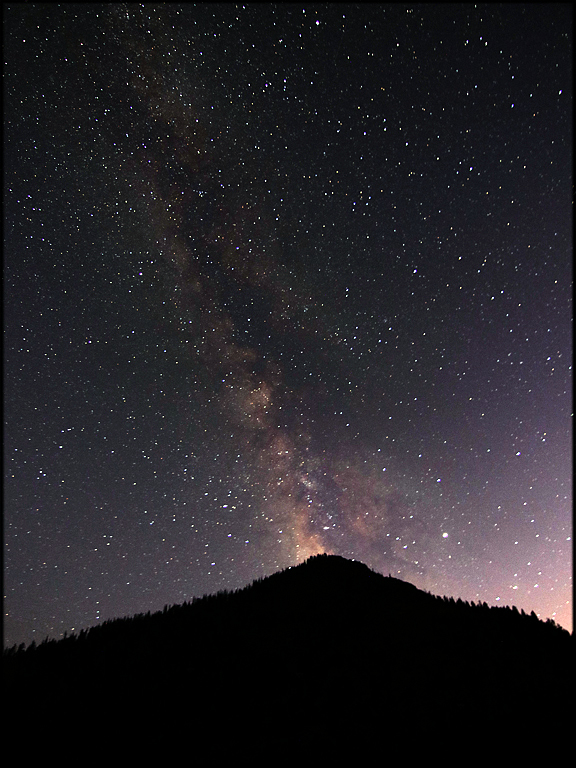 Milky Way over Eagle Falls Trail