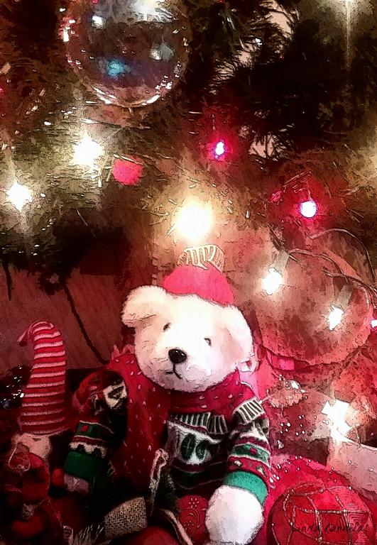 Merry Christmas under the christmas tree