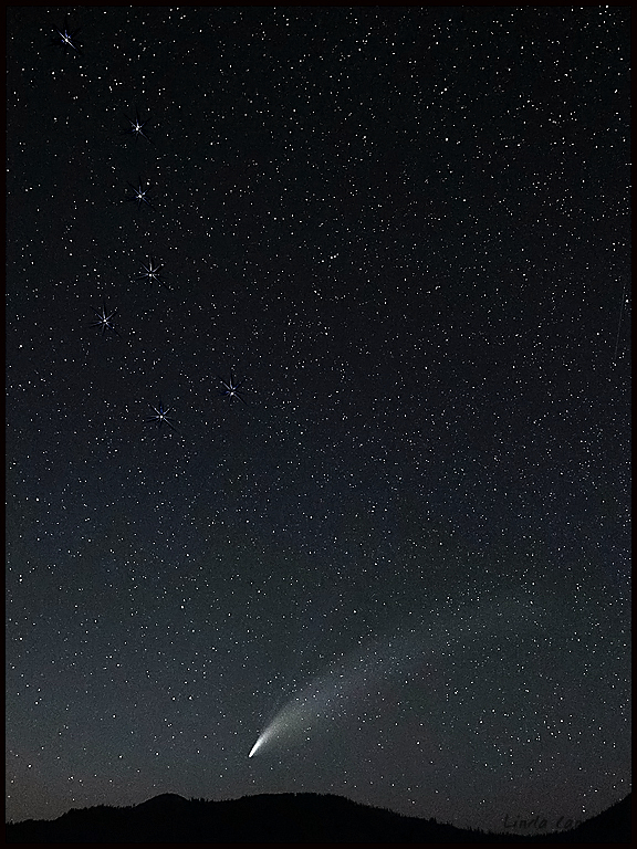 Comet Neowise and Big Dipper