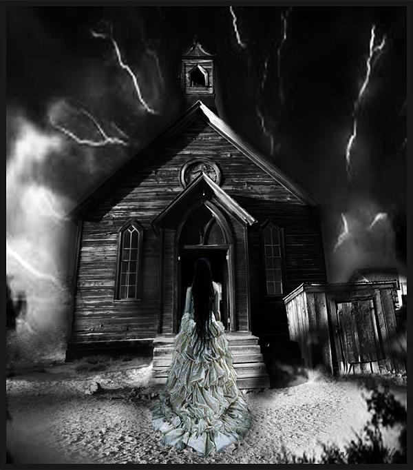 A Bride Standing Alone