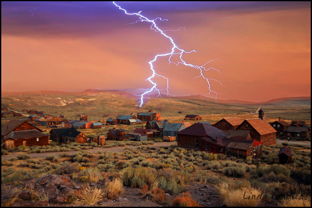 Lighting Storm Over Bodie