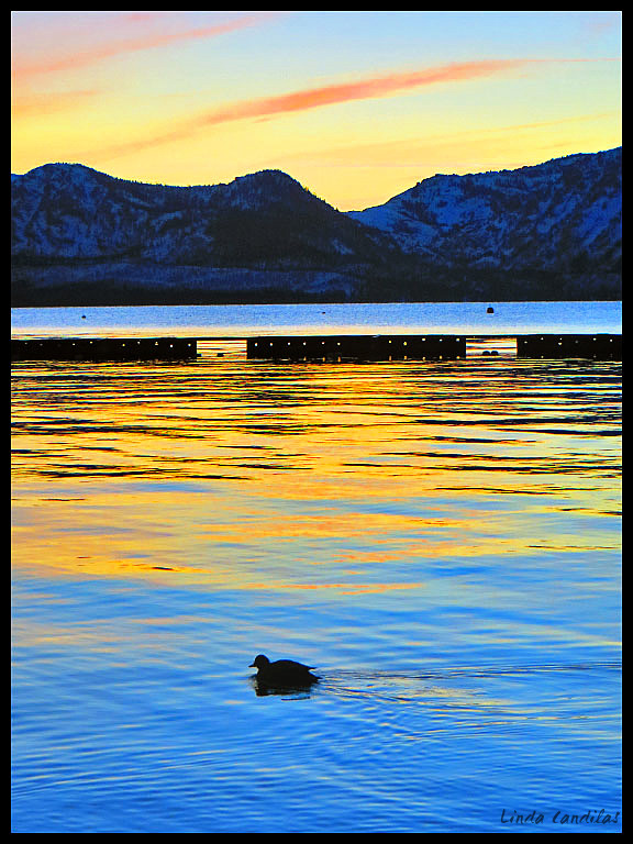 Sun Setting on Lake Tahoe