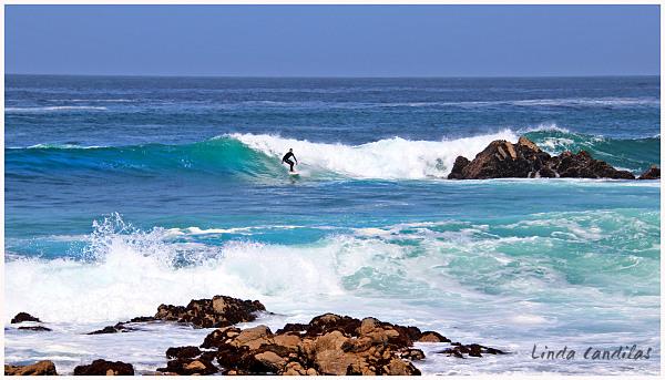Surfing Pebble Beach