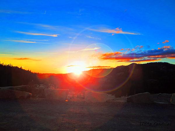 Lens Flare Sunset, Loon Lake