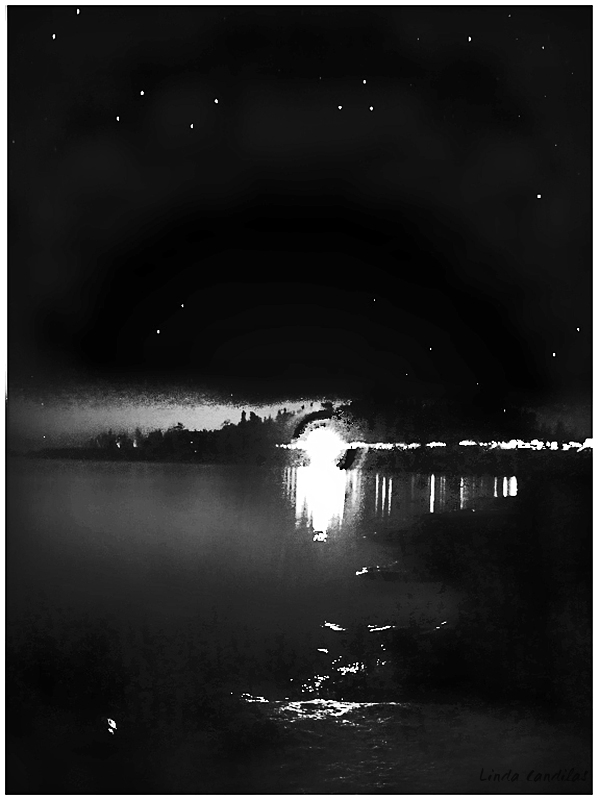 Loon Lake, Lights from Campers