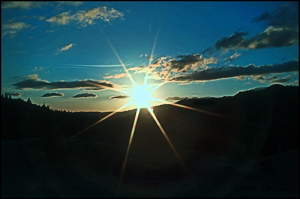 Star Burst Loon Lake Sunset