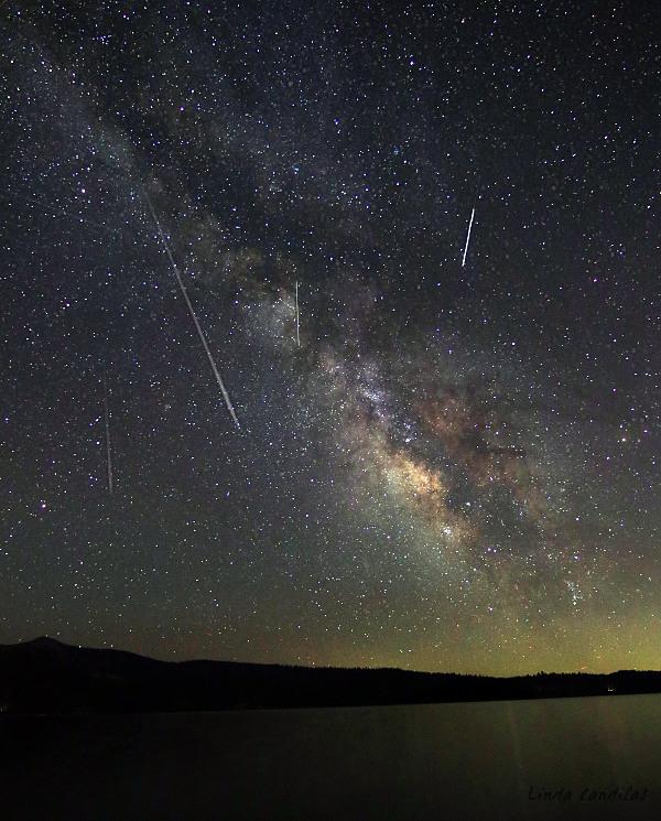 Shooting Stars and the Milky Way, Loon Lake