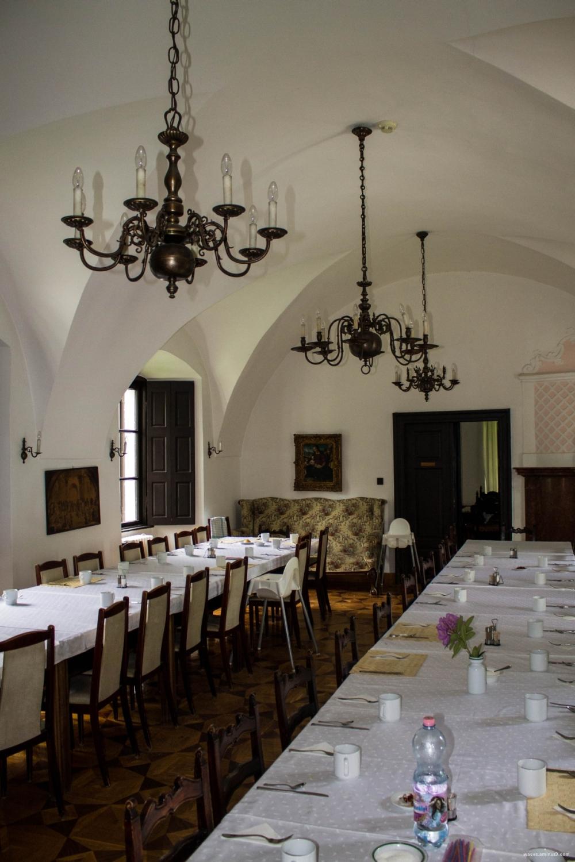 ebédlő, zsennyei kastély