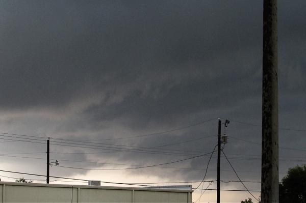 dark clouds before a heavy rain
