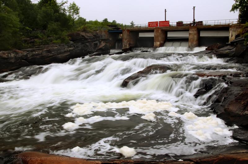 dam and waterfall