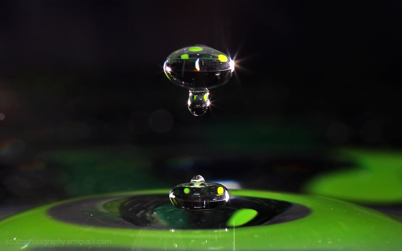 Close up of water droplets