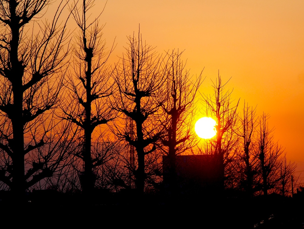Sunset of my town,Feb/2014